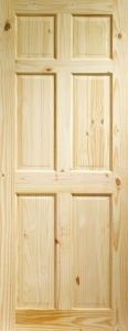 Internal Knotty Pine Colonial 6 Panel