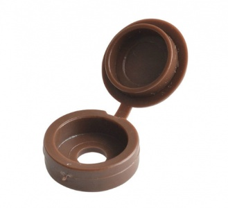 Brown Large Hinged Screw Cover Cap (Pack of 10)