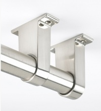 Rothley Long End Brackets Nickel Finish 32mm (pack of 2)