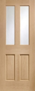 Internal Oak Malton Clear Glazed Door