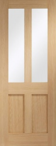 Internal Oak Malton Shaker Clear Glazed Door