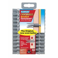 Plasplugs Originals Standard Plasterboard Hollow Wall Fixings (50)