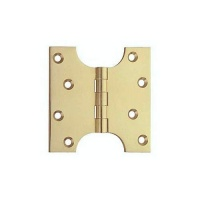 3'' Parliament Hinge Electroplated Brass Pair