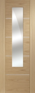 Internal Pre-Finished Oak Portici Door With Mirror