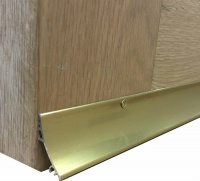 32mm Rain Deflector Gold Anodised Aluminium 838mm