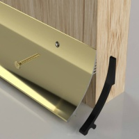 63mm Rain Deflector Gold Anodised Aluminium 838mm