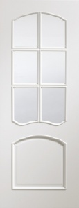 Internal Pre-Finished White Riviera Glazed Door (78'' x 30'')