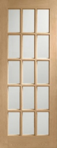 Internal Oak SA77 Clear Glazed Door