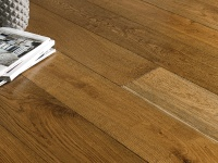 190mm x 20/6 Engineered Oak Flooring Smoked Brushed & Lacquered Oak(1.805m2 pack)