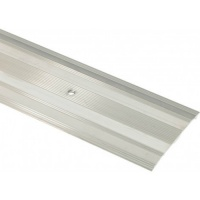 Carpet Cover Strip Extra Wide 900mm Silver finish Aluminium