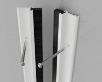 Standard Around Door Seal White Aluminium