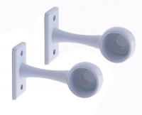 Rothley Standard End Brackets White Finish 19mm (Pack of 2)