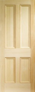 Internal Vertical Grain Pine Edwardian 4 Panel