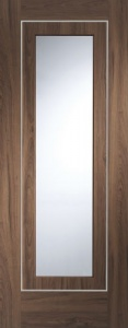 Internal Pre-Finished Walnut Varese Glazed Door (78'' x 30)