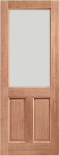 2XG External Hardwood Door with Clear Glass
