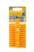 Plasplugs Yellow Super Grips Wall Fixings (100)