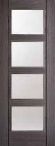 Internal Pre-finished Ash Grey Vancouver Glazed Door