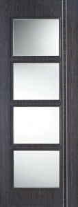 Internal Pre-Finished Ash Grey Zanzibar Glazed Door