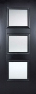 Internal Primed Black Amsterdam Glazed Door
