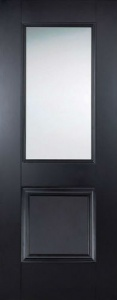 Internal Primed Black Arnhem Glazed Door