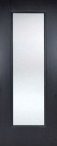 Internal Primed Black Eindhoven Glazed Door