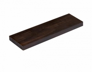 Pre-Oiled Solid Black Oak Floating Shelf Kit
