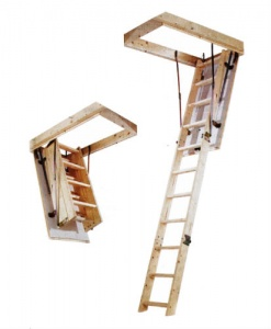 Aman Folding Timber Loft Ladder