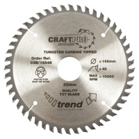 Trend Craft Pro Saw Blade 165mm x 40 Tooth x 20mm (Thin)