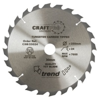 Trend Craft Pro Saw Blade 190mm x 24 Tooth x 30mm