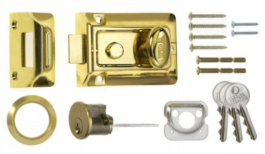 ERA Traditional Night Latch Brass 60mm