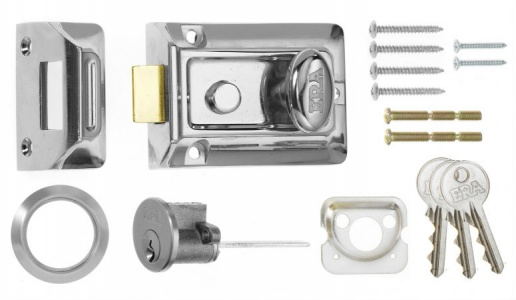 ERA Traditional Night Latch Chrome 60mm