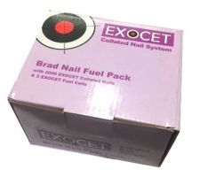 Exocet 63mm Angled Brad Nail Fuel Pack