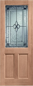 External Hardwood 2XG Door with Coleridge Glass