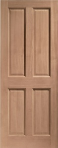 External Hardwood London 4 Panel Door