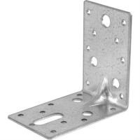 Reinforced Galvanised Steel Angle Bracket 90mm x 90mm x 65mm