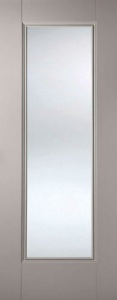 Internal Primed Grey Eindhoven Glazed Door