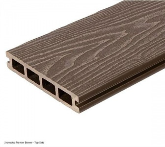 Gronodec Premier Composite Decking Board 3.6m - Brown