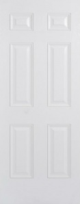External GRP Composite Colonial 6P White Door