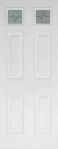 External GRP Composite Colonial Top Light White Door