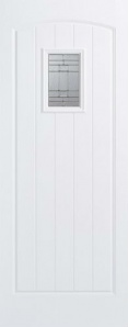 External GRP Composite Cottage White Glazed Door