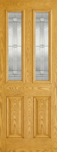 External GRP Composite Malton Oak Glazed Door