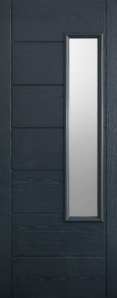 External GRP Composite Newbury Grey Glazed Door
