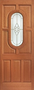 External Hardwood Acacia Bevelled Cluster Door