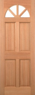 External Hardwood Carolina 4 Panel Door