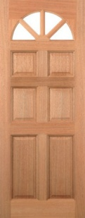 External Hardwood Carolina 6 Panel Door