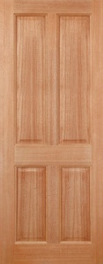 External Hardwood Colonial 4 Panel Door