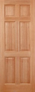 External Hardwood Colonial 6 Panel Door