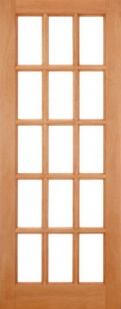 External Hardwood SA Clear Glazed Door