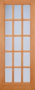 External Hardwood SA Frosted Glazed Door