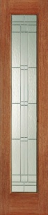 External Hardwood Elegant Sidelight 81'' x 18''